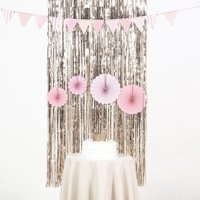 Efavormart Sparkling Metallic Foil Fringe Curtain For Wedding Birthday Party Dance Banquet Event Decoration 3ft x 8ft