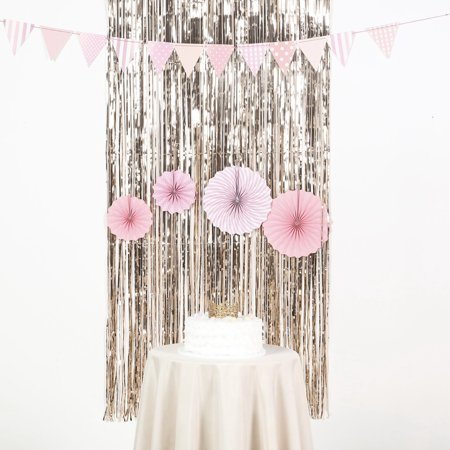 Efavormart Sparkling Metallic Foil Fringe Curtain For Wedding Birthday Party Dance Banquet Event Decoration 3ft x 8ft](Event Decorations)