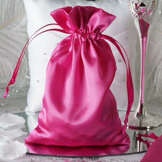 "Efavormart 60PCS Satin Gift Bag Drawstring Pouch Wedding Favors  - 6""x 9"""
