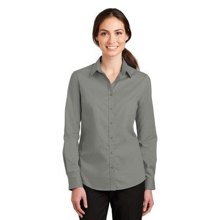 Port Authority® Ladies Superpro™ Twill Shirt. L663 Monument Grey S - image 1 de 1