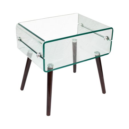 Best Master Furniture Z02 Clear Glass End Table