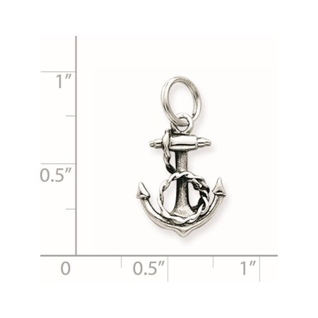 925 Sterling Silver Anchor (13x17mm) Pendant / Charm - image 1 of 2