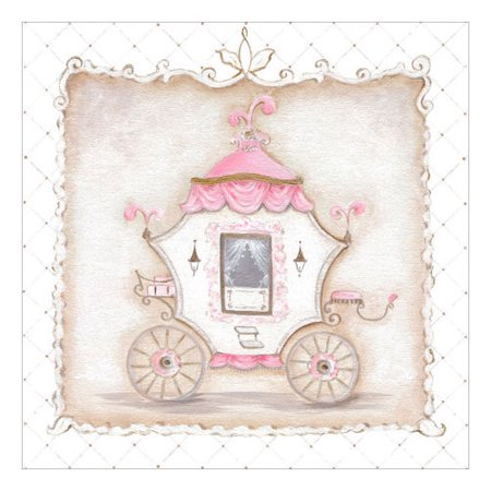 Oopsy Daisy Little Princess Carriage IV Canvas Art