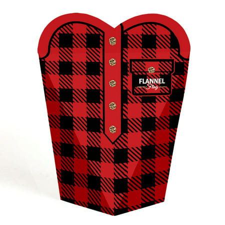 Flannel Fling Before The Ring - Buffalo Plaid Bachelorette Party Favors - Gift Favor Boxes for Women - Set of