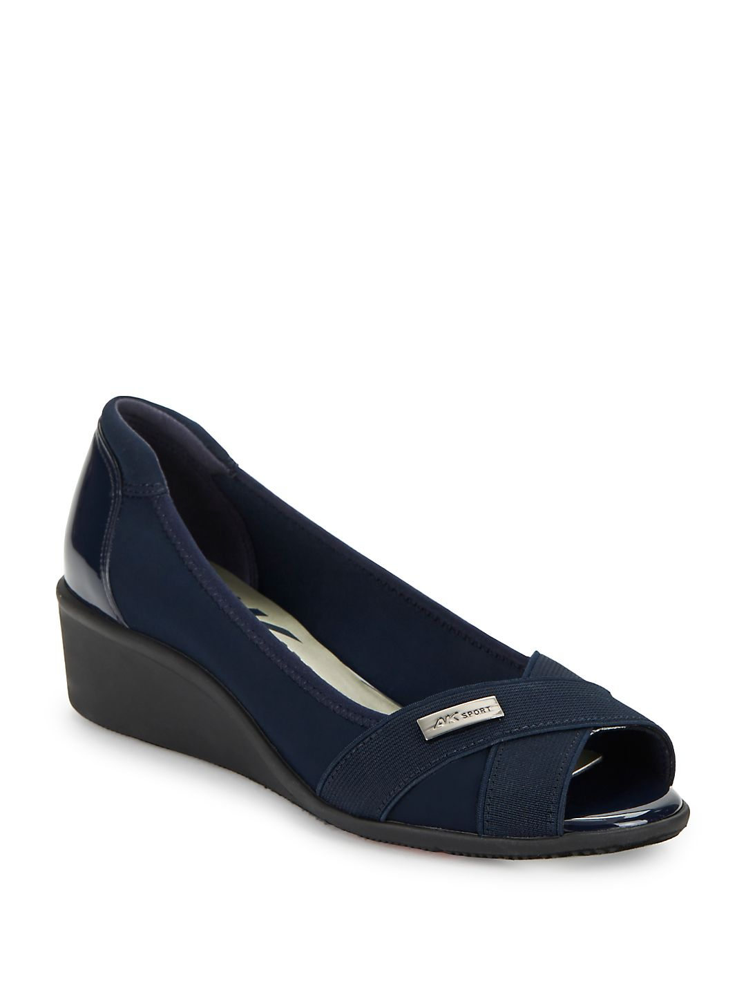 Jetta Fabric Wedge Pumps