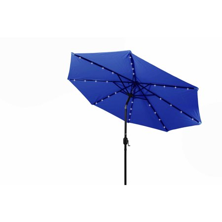 deluxe solar powered led lighted patio umbrella 10 39 by