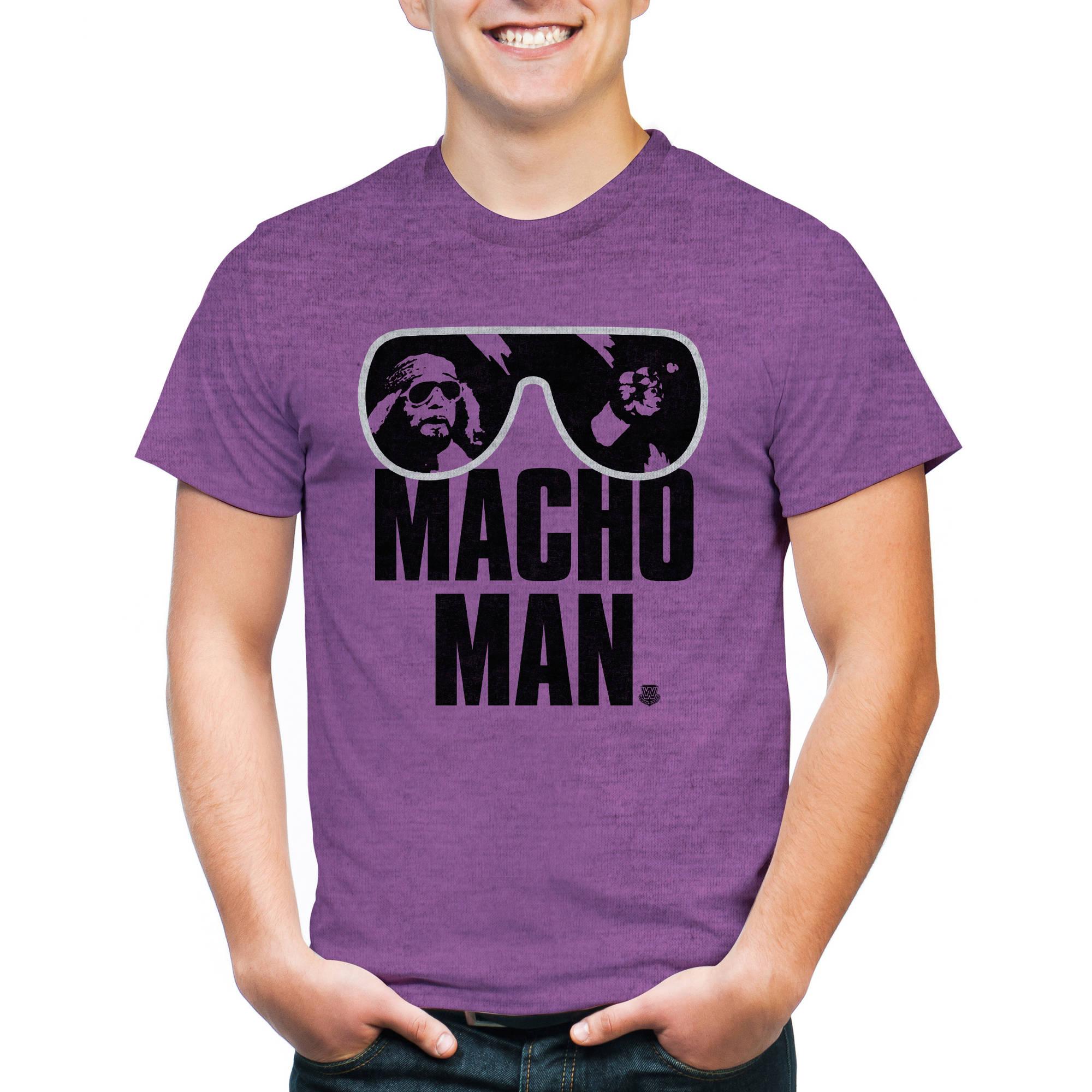 WWE Macho Man Authentic Men's Graphic Short Sleeve T-Shirt, 2XL