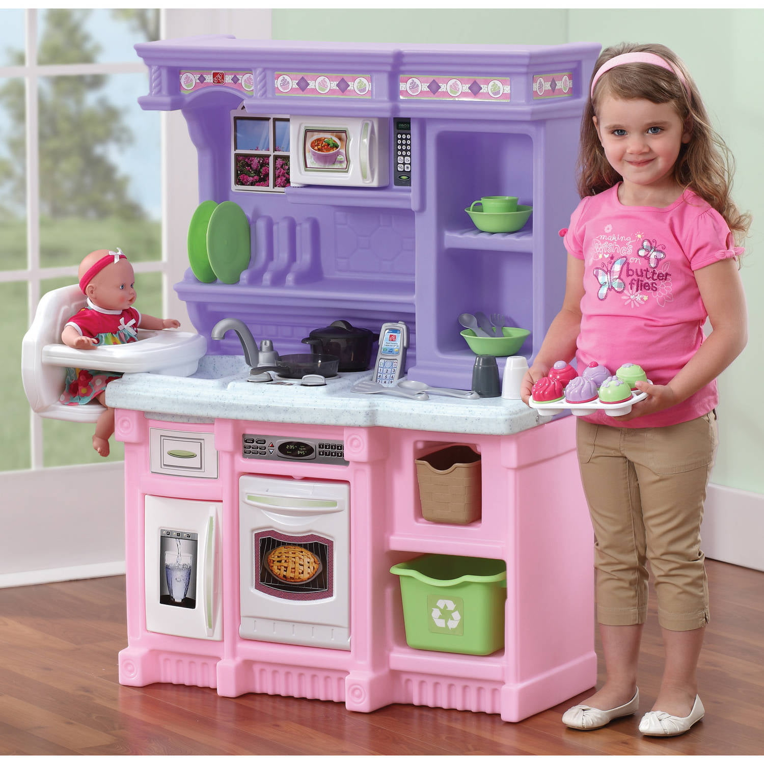 kids' kitchen sets - step little bakers kitchen with piece accessory set