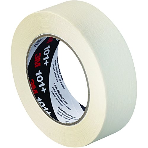 "Partners Brand PT936101 3M 101 Masking Tape, 60 yd. Length, 1.5"" Width, Tan (Pack of 24)"