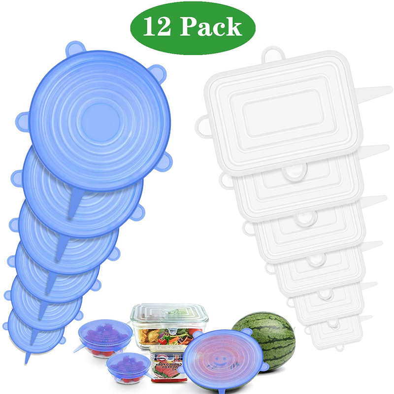 Details about  /6 Pcs Silicone Stretch Lids Reusable Airtight Food Wrap Covers Keeping Fresh
