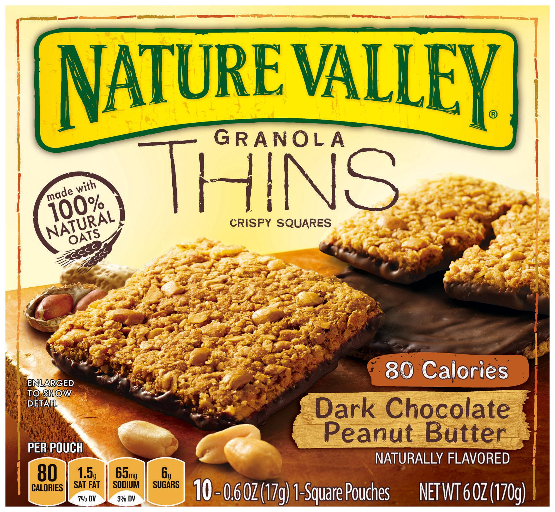 Nature Valley® Granola Thins Dark Chocolate Peanut Butter Crispy Squares 10 ct. Box