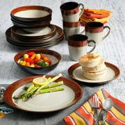 Gibson Home Terra Bella Red 16-Piece Dinnerware Set