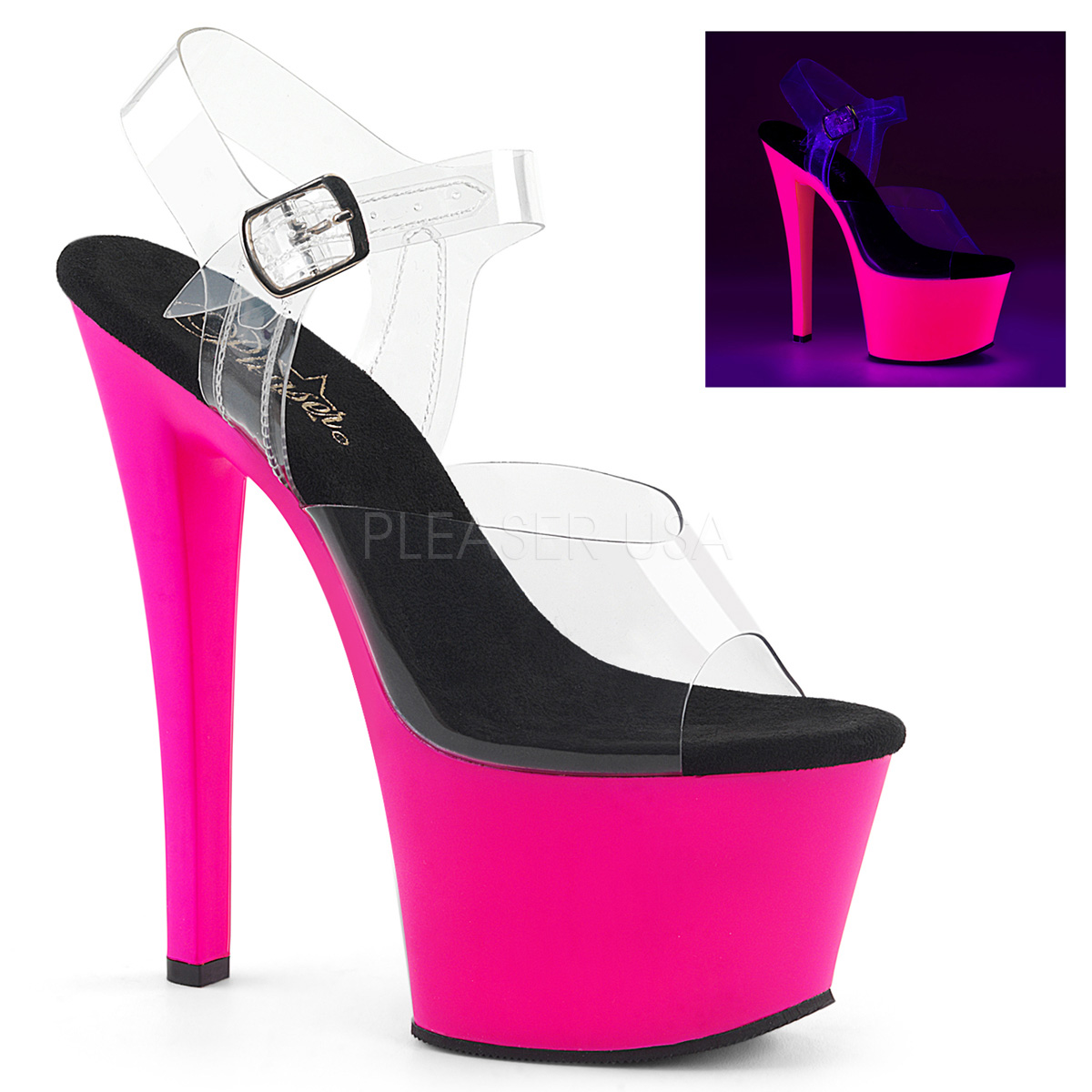 Pleaser SKY-308UV Economical, stylish, and eye-catching shoes
