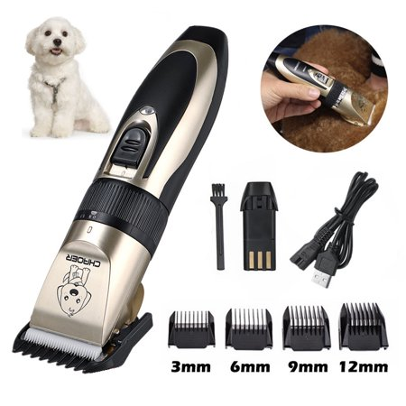 Pro Quiet Mute USB Charge Cordless Electric Cat Dog Hair Cutting Clipper Trimmer Shaver Grooming Set Pet Best