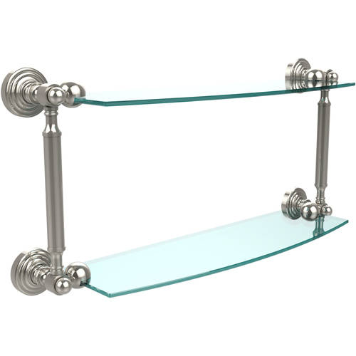 """Waverly Place Collection 18"""" 2-Tiered Glass Shelf (Build to Order)"""