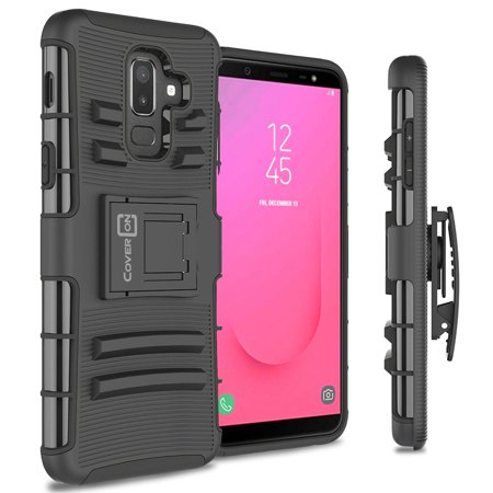 wholesale dealer 01c2d dcde7 CoverON Samsung Galaxy A6 Plus 2018 / Galaxy J8 2018 Case, Explorer Series  Protective Holster Belt Clip Phone Cover