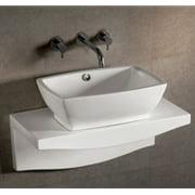 "Whitehaus Whkn1065-1116 Isabella 21 5/8"" Rectangular Porcelain Vessel Bathroom S - White"