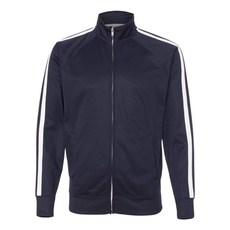 EXP70PTZ Poly-Tech Full-Zip Track Activewear Jacket By Independent Trading