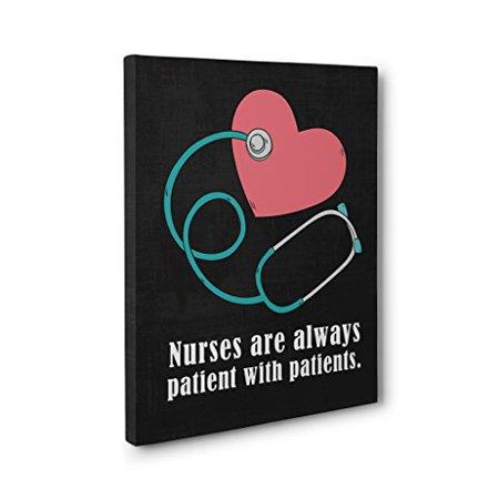 Nurse's Week - Nurse Appreciation Gift - Patience CANVAS Wall Art - Graduation Gift for Nurse