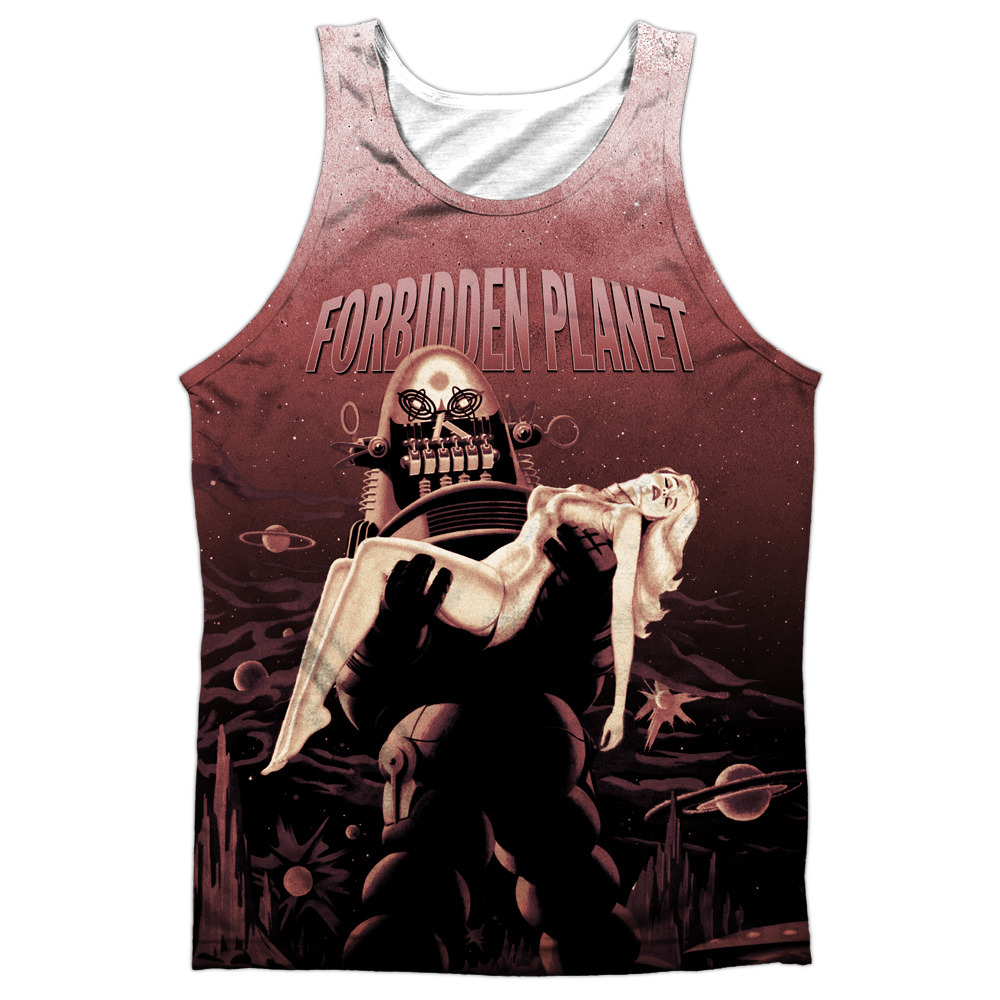 Forbidden Planet Poster Mens Sublimation Tank Top Shirt