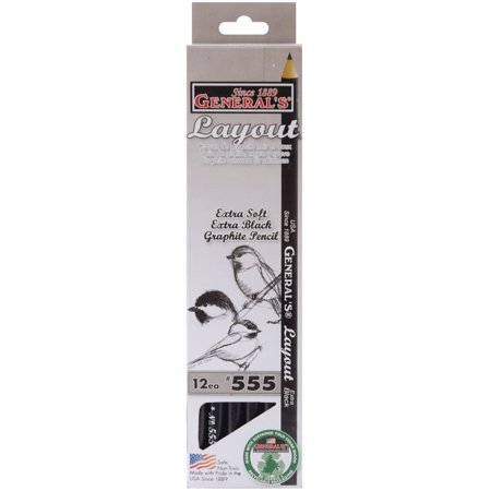 General Pencil Layout Graphite Drawing Pencils, 6B, 12/pkg - Tattoo Drawings In Pencil