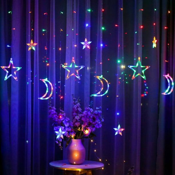 Garland Wedding Party Decor 3.5m Star Moon Fairy LED Lights Curtain Lamp String