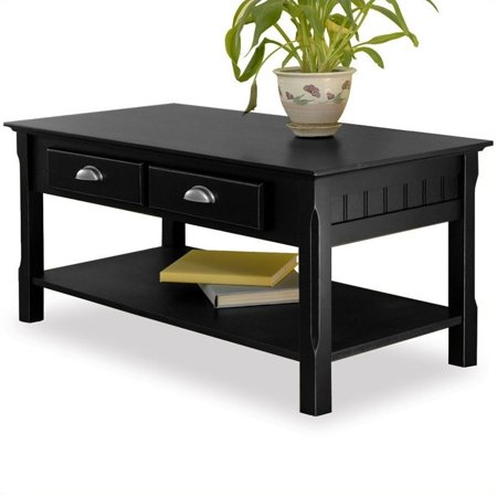 Surprising Pemberly Row Solid Wood Coffee Table In Black Bralicious Painted Fabric Chair Ideas Braliciousco