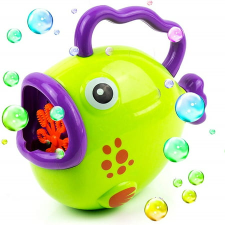 Toysery Fish Bubble Machine | 1000s of Bubbles in minutes | Comes with Bubble Solution | No Batteries Needed | Hours of Entertainment for Kids | Best for Gifting Purpose