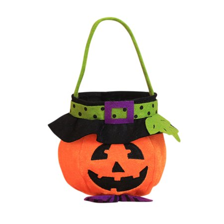 Pumpkin Halloween Candy Bag Festival Party Decor Supplies Bucket Gift Handbag (Halloween Beer Festival)