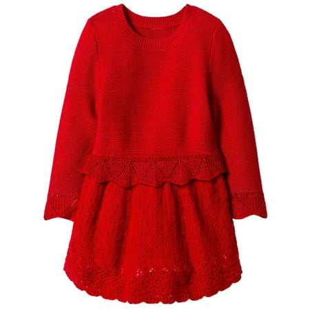 a85b016f3f5b CatJack - Infant & Toddler Girls Red Glitter Holiday Sweater Dress ...