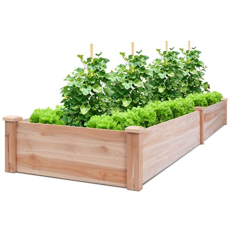 Wooden Vegetable Raised Garden Bed Backyard Patio Grow Flowers Plants Planter - image 5 of 5