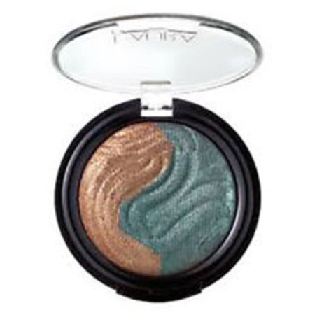 Laura Geller Baked Eclipse Eye Shadow Duo, Bronze/Emerald