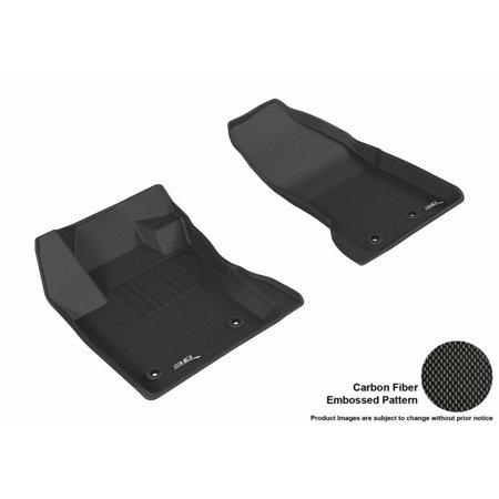 Maxpider 2017 Jeep Renegade Kagu 1st Row Black Carbon Fiber Embossed Pattern Floor Mat L1jp01311509