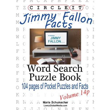 Circle It, Jimmy Fallon Facts, Pocket Size, Word Search, Puzzle - Jimmy Fallon Halloween Rap