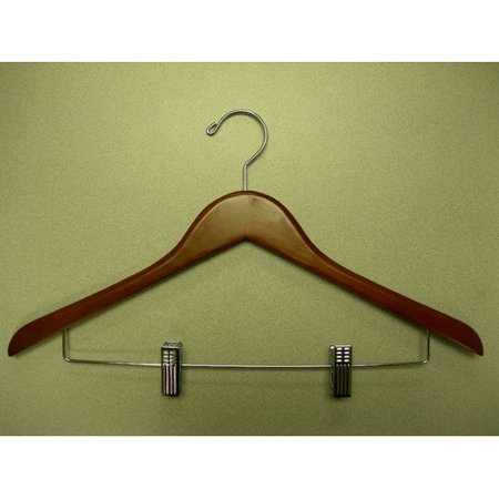 Proman Products Genesis Flat Suit Hanger with Wire Clips (Set of 50)