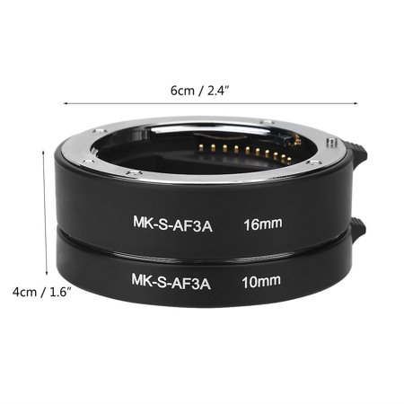 OTVIAP Auto Focus Extension Tube, Photography Accessory,Automatic Auto Focus 10mm 16mm Macro Extension Tube Set for Sony E Mount