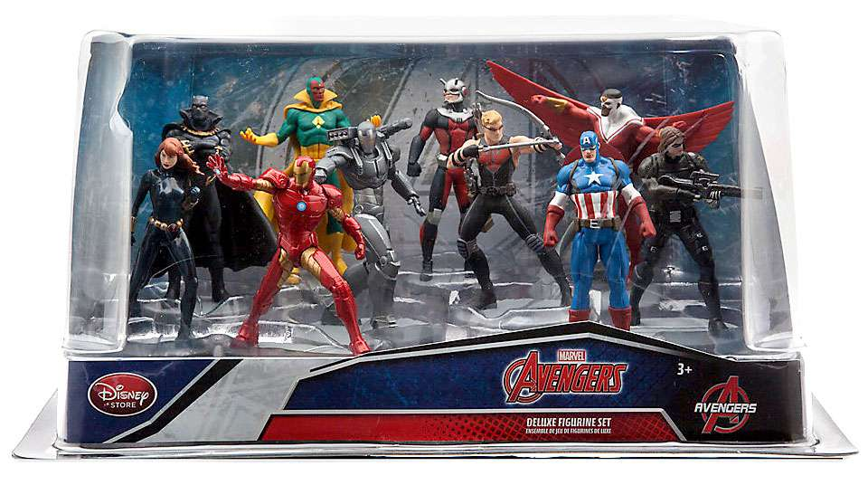Marvel Avengers Captain America: Civil War 10 Piece PVC Figure Set by