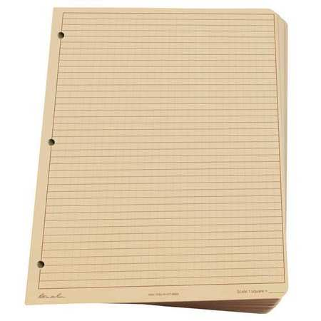 RITE IN THE RAIN 982T-MX Loose Leaf Paper, All Weather,Brown G4878058