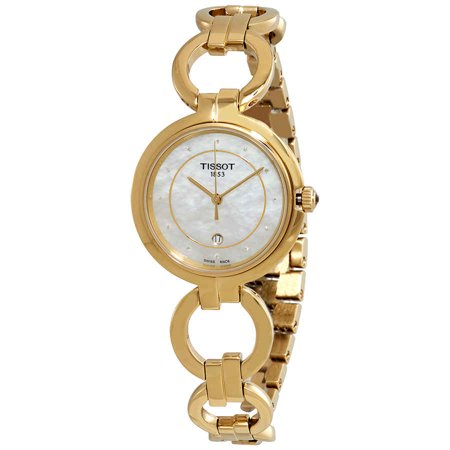 Tissot Flamingo Diamond White Mother of Pearl Dial Ladies Watch T094.210.33.116.00