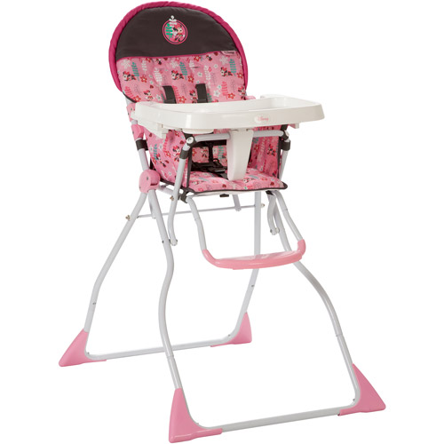 Disney Flat Fold Deluxe High Chair, Sweet Minnie