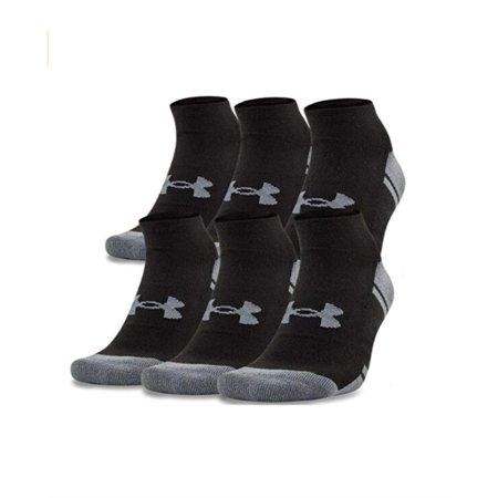 Under Armour Adult Resistor 3.0 No Show Socks, Black/Graphite, Medium, 6 Pairs Under Armour Sport Socks