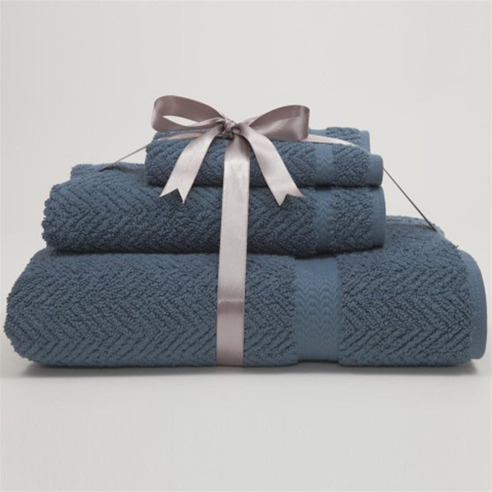 Luxury Hotel & Spa Herringbone Weave 100% Turkish Cotton 3 pc. Combination Set