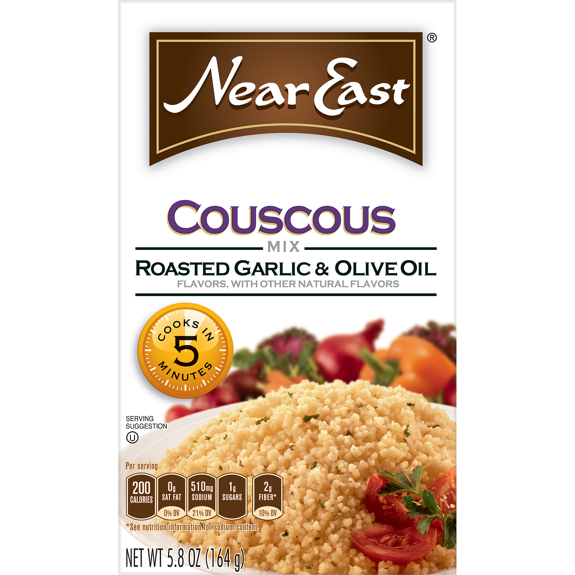 Near East Roasted Garlic & Olive Oil Couscous, 5.8 oz