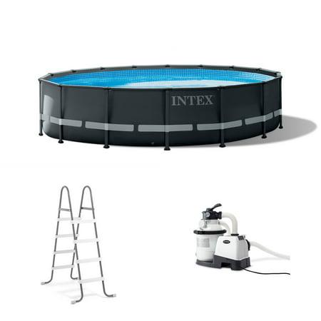 Intex Ultra Frame - Intex 16 Foot x 48 Inch Ultra XTR Frame Above Ground Swimming Pool Set w/ Pump