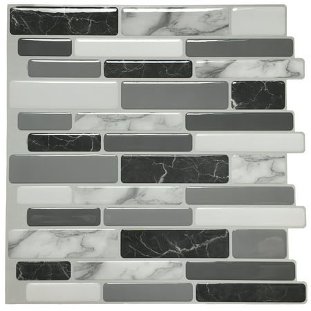 Peel and Stick Wall Tile for Kitchen Backsplash, 12