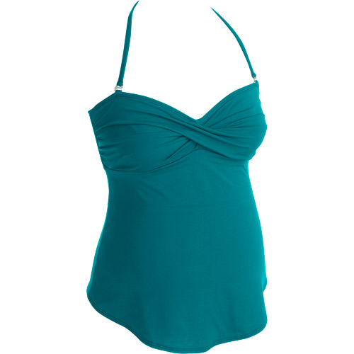 Maternity Twist Front Tankini Set