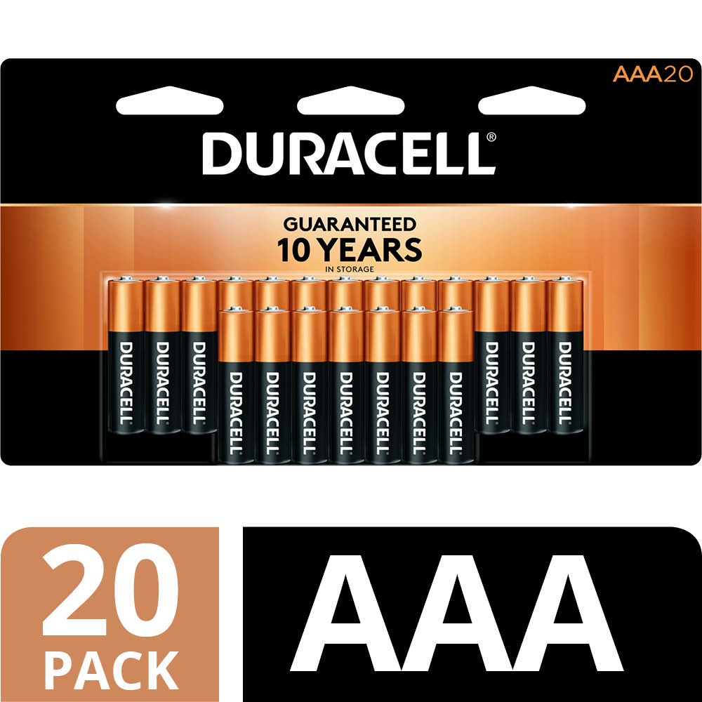 Duracell 1.5V Coppertop Alkaline AAA Batteries, 20 Pack