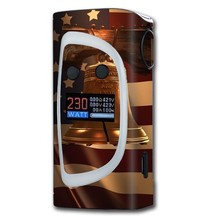 Engraved Liberty Bell (Skins Decals For Sigelei Kaos Spectrum Vape Mod / Liberty Bell And Flag)