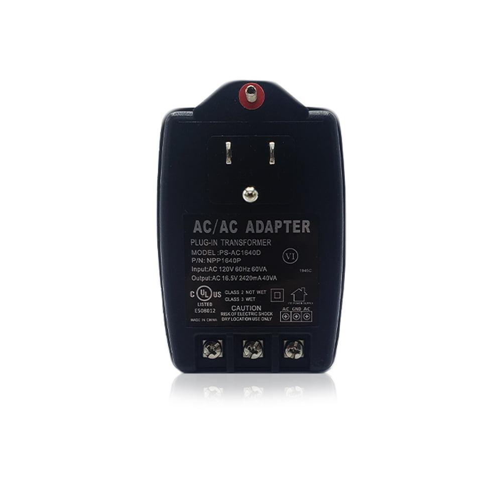 DSC PTD1640U Plug-in Power Transformer 16.5VAC 40VA Home Alarm