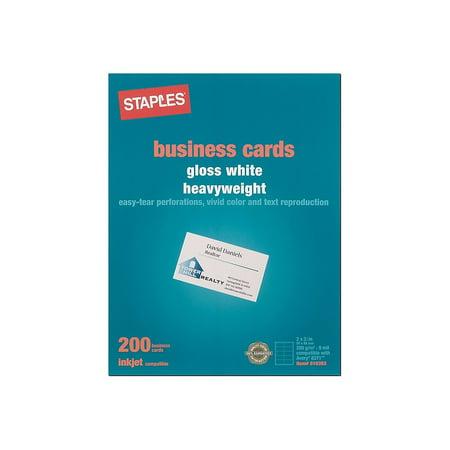 - Staples Inkjet Business Cards 2